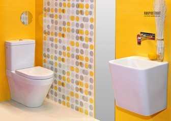 Плитка в ванную и санузел: фото проектов