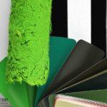 Сочетание цветов в интерьере: зеленый, черный, белый