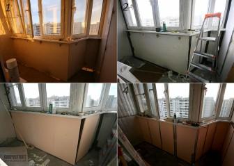 Утепленные лоджии: фото готовых помещений и этапов строительных работ