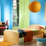 Голубой цвет в детской спальне