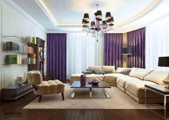 Сочетание цветов в интерьере: фиолетовый и его оттенки