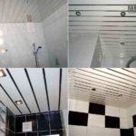 Пластиковые панели на потолок в ванной