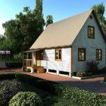 Маленькие дома с мансардой: проекты и фото