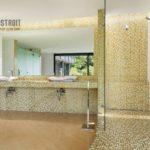 Оформление ванных комнат плиткой