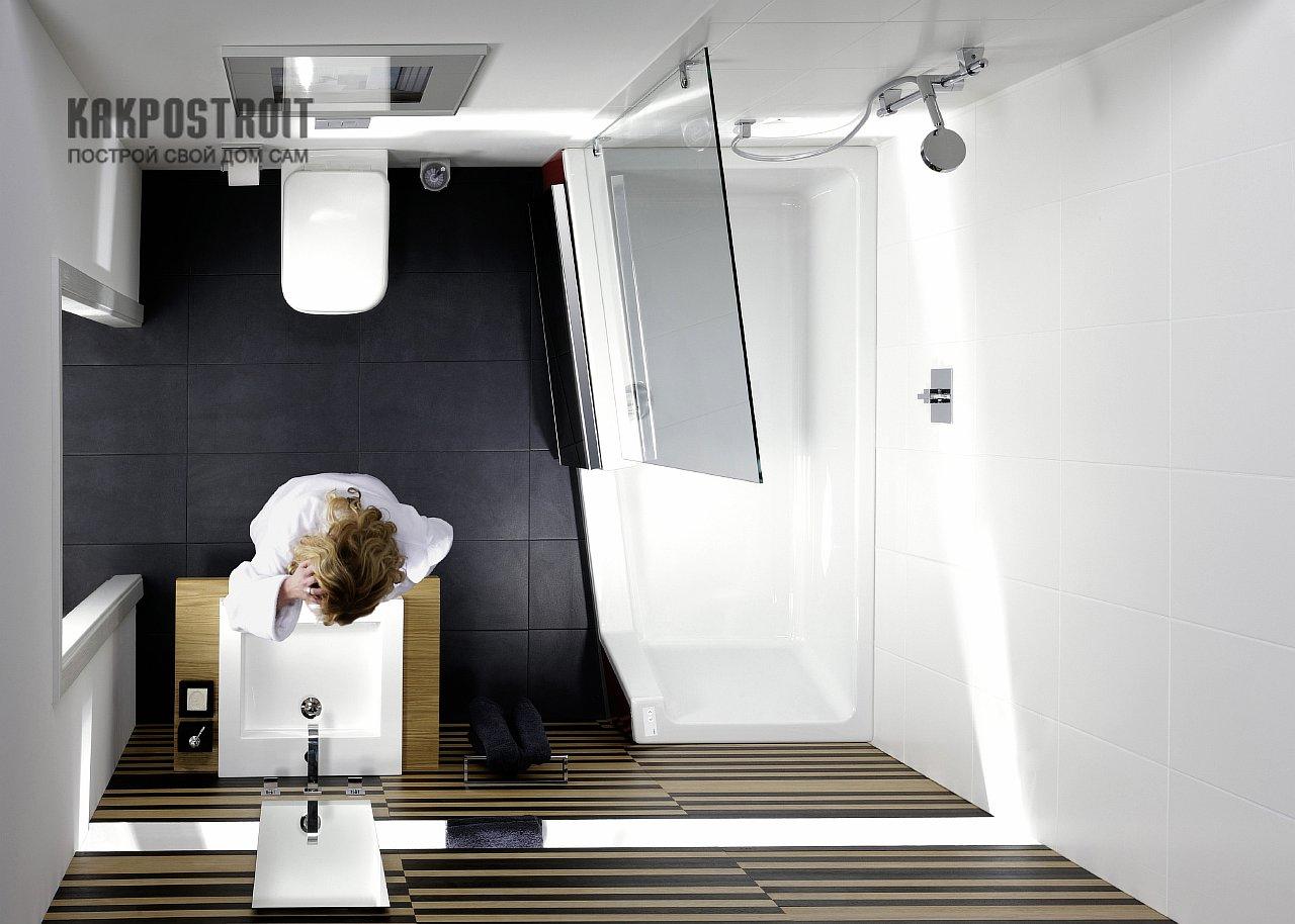 Комбинированные ванны с душевой кабиной-варианты форм и функции