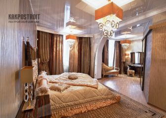 Натяжные потолки на фото для спальни