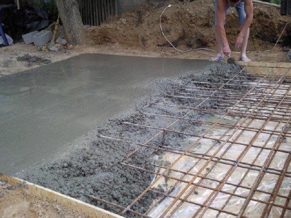 Изготовление бетонного перекрытия