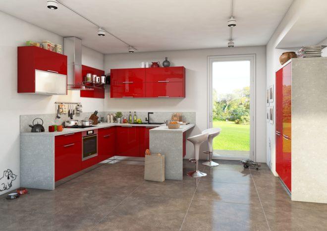Красный цвет мебели