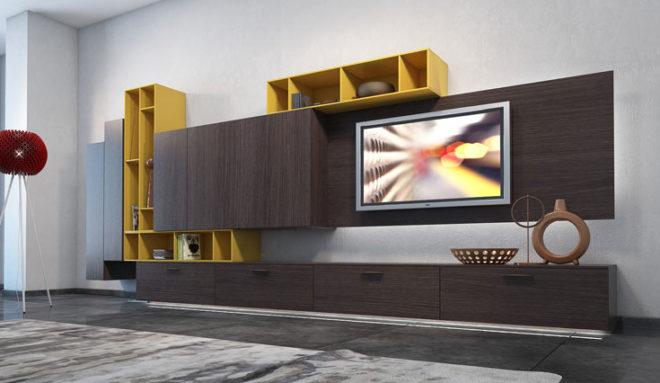 Желтый цвет мебель в интерьере