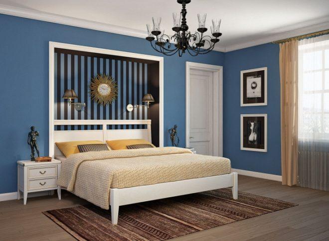Синий цвет мебели в интерьере