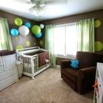 Коричневый цвет в оформлении комнаты младенца