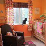 Детская комната в оттенках оранжевого