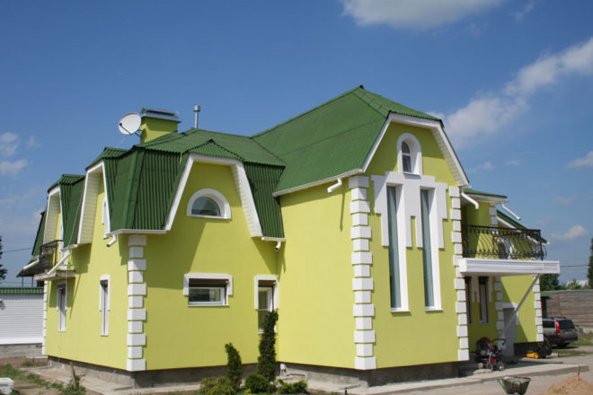 Покраска фасада матовой краской