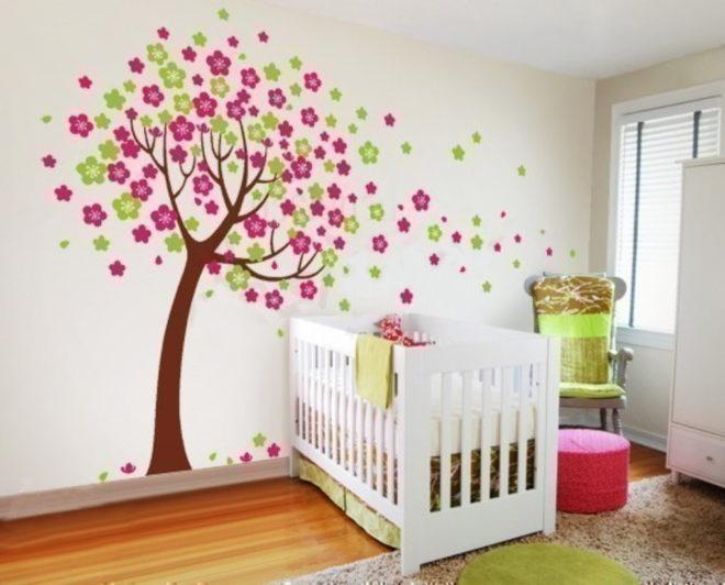 Стилизованное цветущее дерево