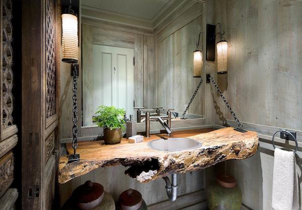 Пример оформления ванной в стиле гранж