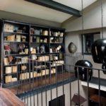 Библиотека-кабинет в морском стиле