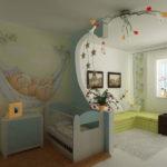 Необычный декор детской комнаты