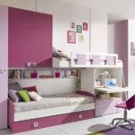 Комната для двух девочек с двухъярусной кроватью
