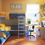 Комната в жёлто-голубой гамме