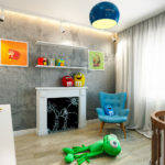 Детская комната в стиле лофт для новорожденного