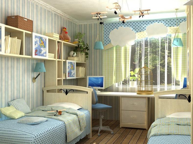 особенности дизайна маленькой детской комнаты