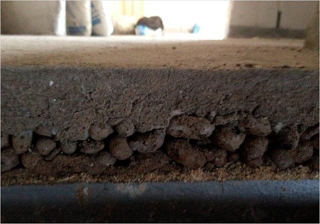 Утепление пола в гараже керамзитом