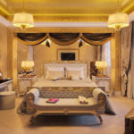 Спальная комната в стиле ампир