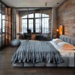 Стиль лофт в интерьере спальни