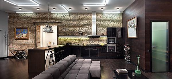 Стиль лофт в интерьере квартиры-студии