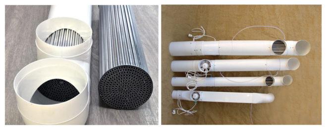 Трубчатый рекуператор из пластиковой трубы