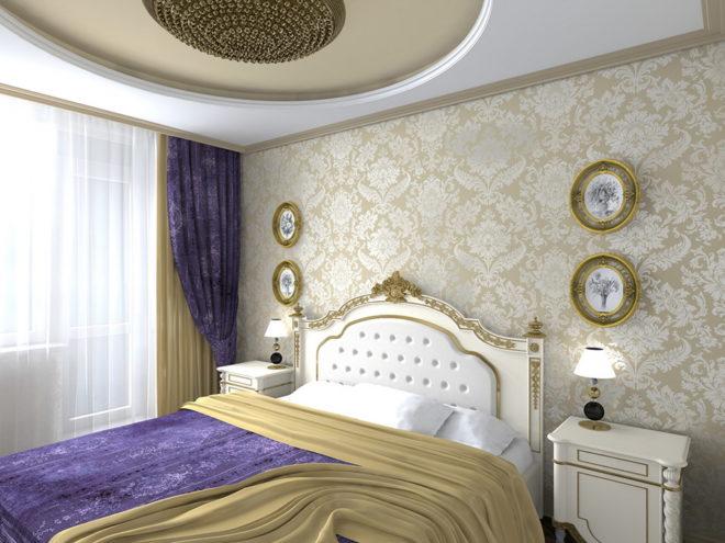 Вариант цветового оформления спальни