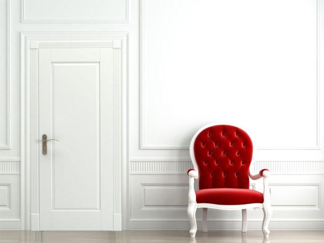Белые двери неоклассика