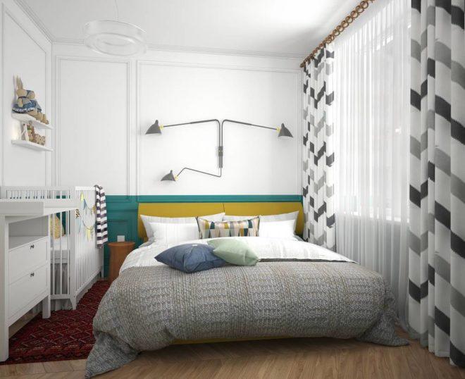Эклетичная общая спальня