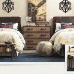 Спальня для близнецов в колониальном стиле