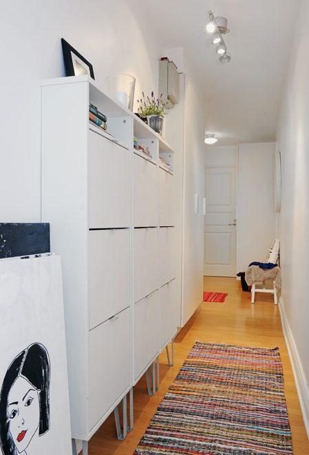 Скандинавский стиль ульто-узкого коридора
