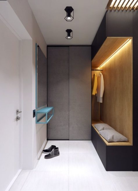 Ультраузкий коридор в лаконичном стиле