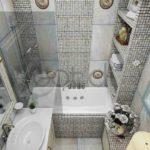 Крохотная ванна в стиле неоклассика