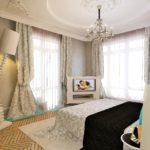 Современная спальня с классическим акцентом