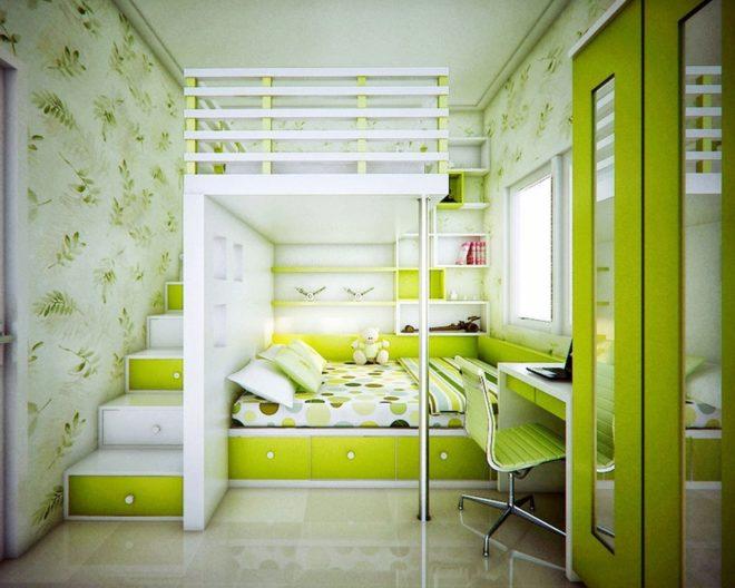 Общая спальня с двухуровневой кроватью