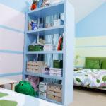 Зелёно-голубая спальня