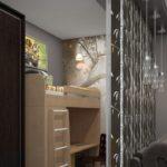 Строгая спальня для взрослых и ребёнка