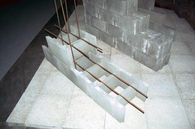 Пример армирования ж/б блоков