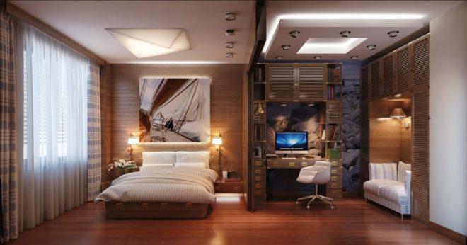 Спальня для взрослых и подростка