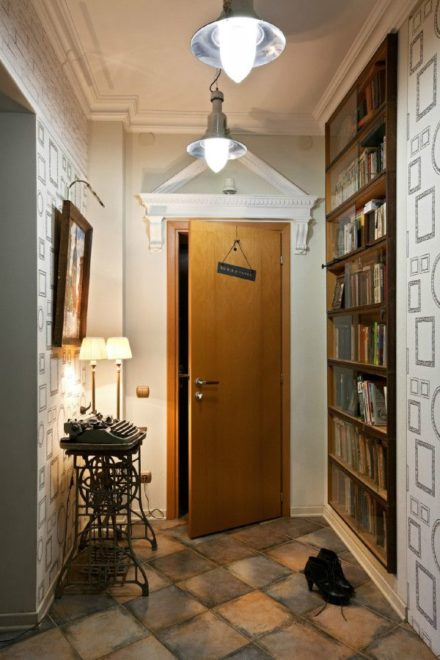 Многоточечное световое оформеление коридора