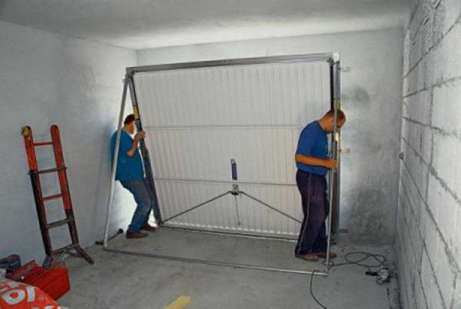 Предварительная установка подъёмной конструкции