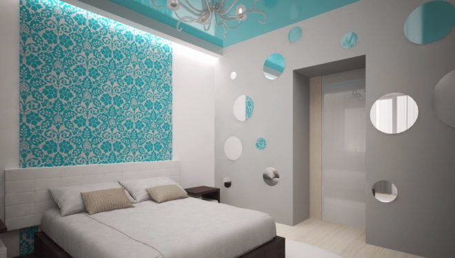 Лаконичная мебель для бирюзовой спальни