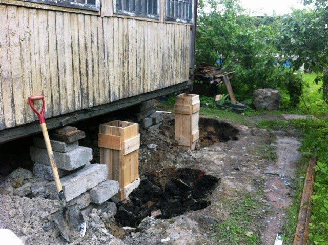 Каркас для заливки бетона