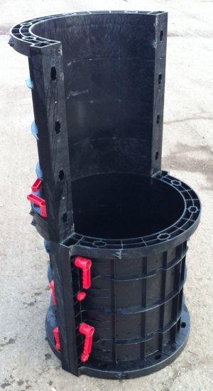 Пластиковая опалубка для создания столбчатых конструкций
