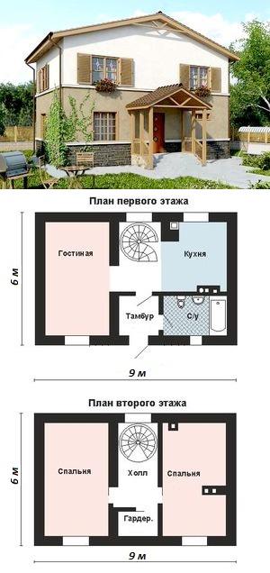 Пример плана строящегося здания