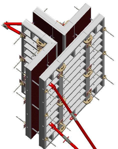 Схематичное изображение алюминиевой опалубки